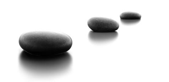 Photo of stepping stones. Start your journey with Soul Ambition today