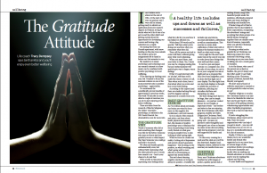 "Tracy Dempsey's wellbeing column in the Irish Sunday Mirror - ""The Gratitude Attitude"""