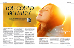 """Tracy Dempsey's wellbeing column in the Irish Sunday Mirror - """"You could be happy"""""""
