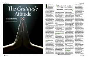 "Tracy Dempsey's wellbeing column in the Irish Sunday Mirror - ""The Gratitude Attitude"""
